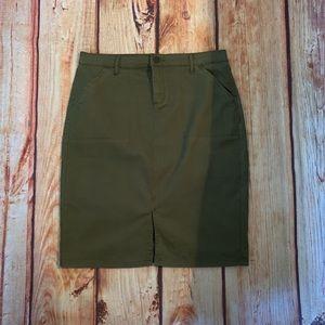 Westport Army Green Skirt NWOT